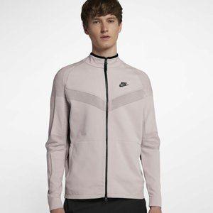 Nike Tech Knit Full Zip Jacket Particle Rose & Black Mens Size L 886150-684